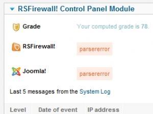 CPanel module parser error