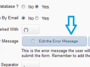 RSForm!Pro - Form Info tab