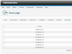 Cron Logs