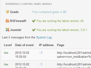 RSFirewall! Control Panel Module