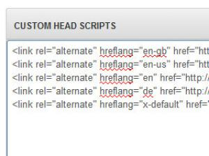 Custom Head Scripts hreflang