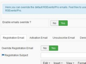 Override RSEvents!Pro Emails