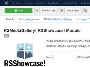 RSMediaGallery! RSShowcase! Module Configuration