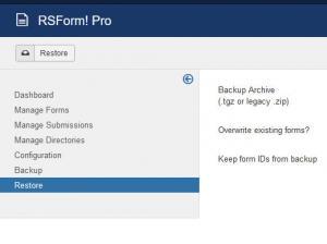 RSForm!Pro - Restore