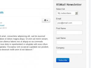 Newsletter module frontend view