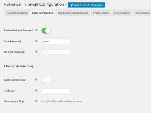 RSFirewall! Configuration Backend Password