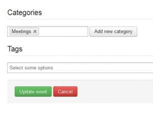 Categories & Tags tab