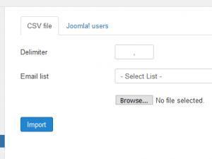 CSV List import