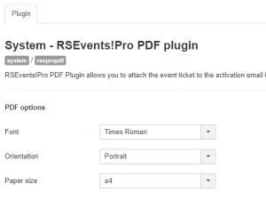 RSEvents!Pro - PDF plugin