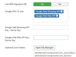 RSFirewall! Google Web Risk API - Firewall Configuration