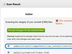 File integrity check - modified files