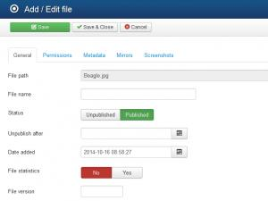 RSFiles! Backend File Properties