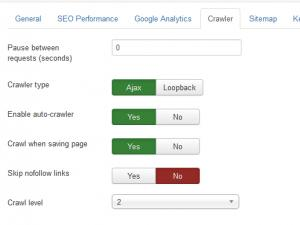 RSSeo! 1.20 Crawler Options