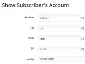 Show subscriber's account