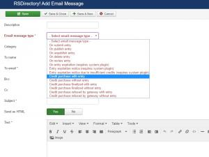 Adding a new email message