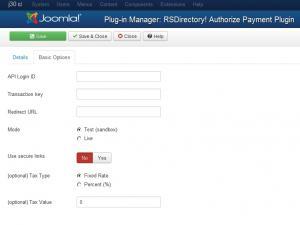 Authorize.Net plugin configuration