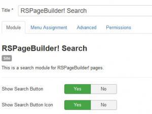 RSPageBuilder! Search Module