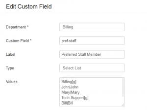 Edit or Create Custom Field