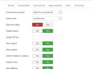 RSComments! - Configuration options