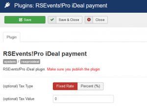 RSEvents!Pro iDeal plugin configuration