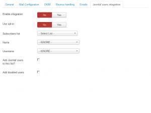 Joomla! Users Integration Tab