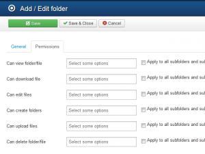 RSFiles! Backend Folder Permissions
