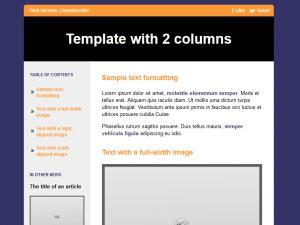 2 columns default template
