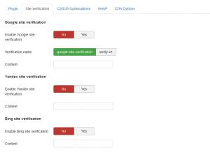 RSSeo! System Plugin - Site verification