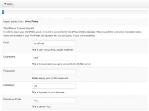 Wordpress Import plugin