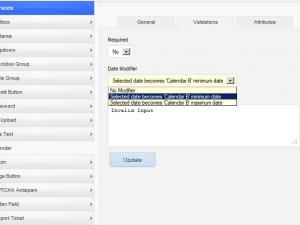 calendar field date modifier