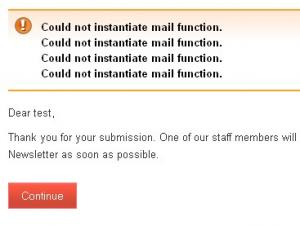 rsform!pro-could-not-instantiate-mail-function
