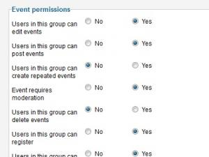 Add Event Group Permissions