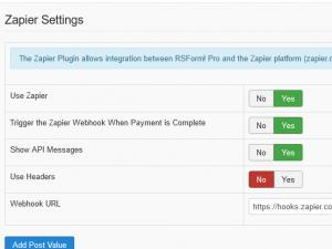 Configuring the integration plugin from RSForm!Pro