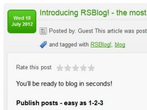 RSBlog! new rsjoomla themes