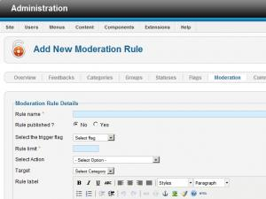 Adding a new moderation rule