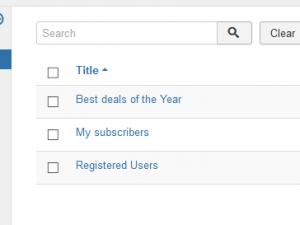 The Subscribers Lists tab