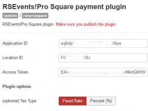 Square Payment Configuration