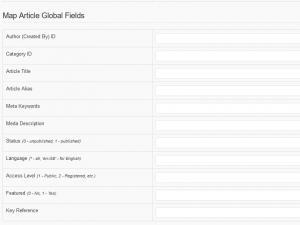 RSForm!Pro Joomla! articles plugin - article global fields