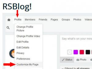 Login to the frontend area > Profile > Customize my page