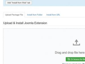 Go to Extensions > Manage > Install