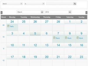 RSEvents!Pro's Calendar menu item