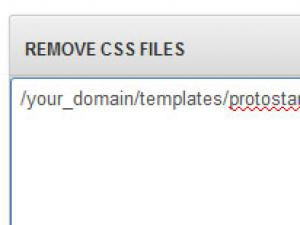 RSSeo! Remove CSS files from a page
