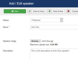 Adding / Editing a Speaker