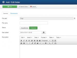 RSFiles! Backend Folder Properties