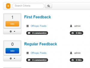 View feedbacks from the frontend area.