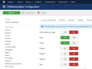 Filtering configuration tab