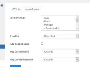 Joomla! users import