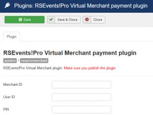 RSEvents!Pro Virtual Mechant configuration