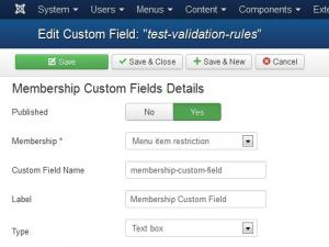 Membership Custom Fields
