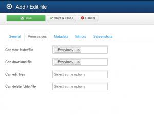 RSFiles! Backend File Permissions